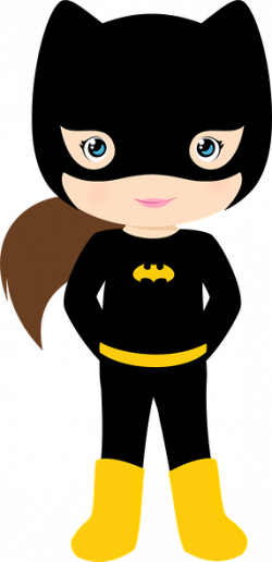 Batgirl clipart female superhero