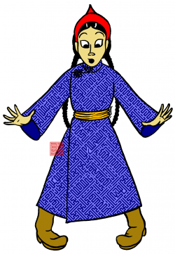 Mongolian clipart female