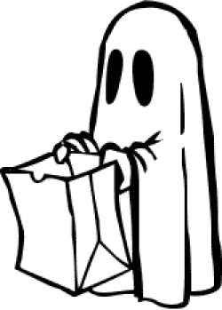 Ghostly clipart trick or treating