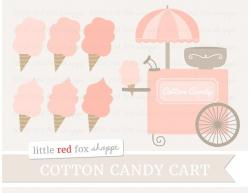 Cotton Candy clipart cart