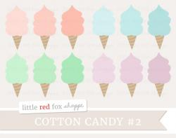 Cotton Candy clipart colored