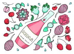 Cotton Candy clipart strawberry