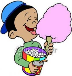 Cotton Candy clipart unhealthy child