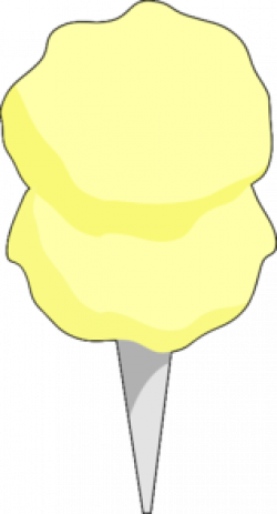 Cotton Candy clipart yellow