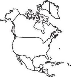 Continent clipart north america
