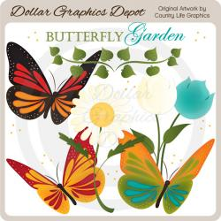 Pollination clipart butterfly garden