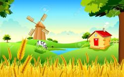 Countryside clipart agricultural