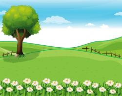 Countryside clipart nature cartoon
