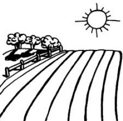 Farmland clipart country side