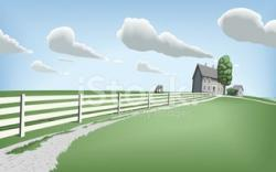 Pasture clipart country side