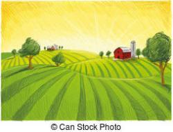 Countryside clipart farm village