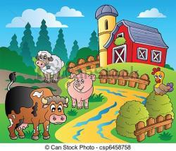 Countryside clipart farmhouse