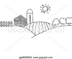 Pasture clipart farming land