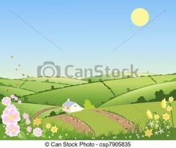 Countyside clipart grass hill