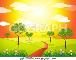 Countryside clipart grassland