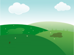 Countyside clipart hill background