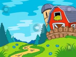 Farmland clipart country landscape