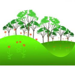 Countyside clipart meadow