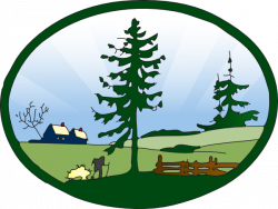 Countryside clipart park scene