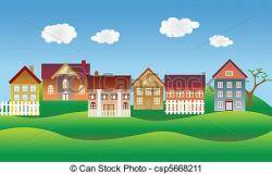 Countyside clipart small village
