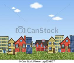 Countyside clipart village