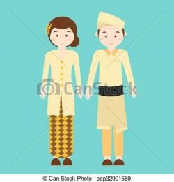 Couple clipart malay