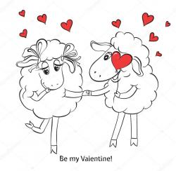 Couple clipart sheep