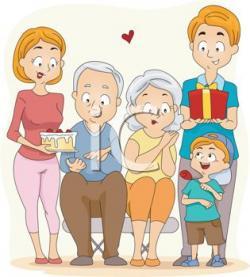 Old clipart grandma grandpa