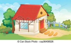 Courtyard clipart village house