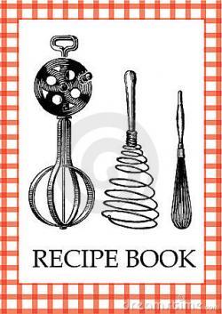 Covered clipart recipe book