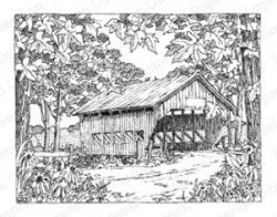 Covered Bridge clipart