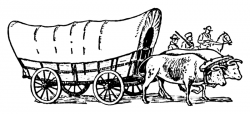 Us History clipart covered wagon