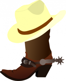 Wild West clipart cowboy boot
