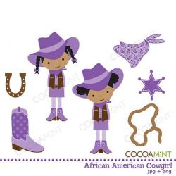 Cowgirl clipart african american