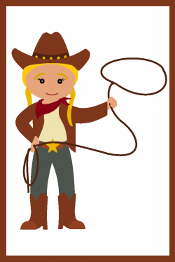 Cowgirl clipart cartoon
