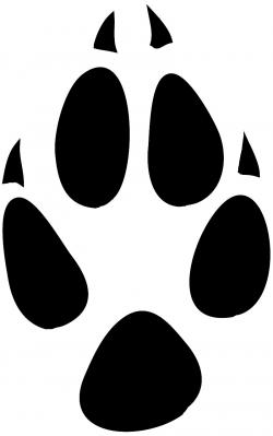 Footprint clipart fox