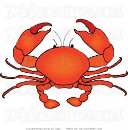 Illustration clipart crab
