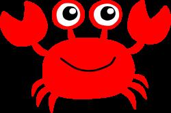 Crustacean clipart red crab