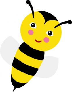 Wasp clipart happy bee