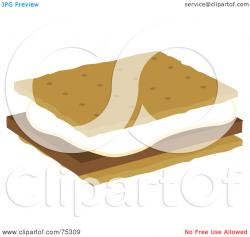 Marshmellow clipart graham cracker