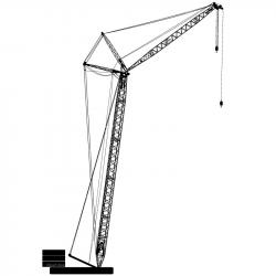 Hook clipart tower crane