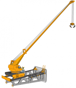 Excovator clipart crane