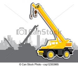 Crane clipart mobile crane