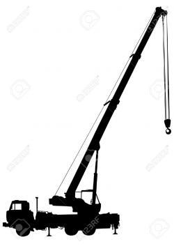 Crane clipart silhouette
