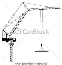 Crane clipart tower crane