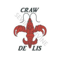 Crawfish clipart fleur de lis