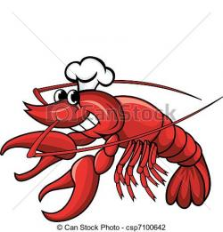 Crawfish clipart cartoon