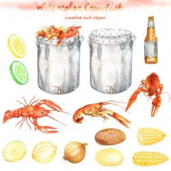 Crawfish clipart seafood