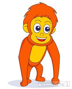 Orangutan clipart cute