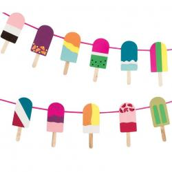 Popsicle clipart banner
